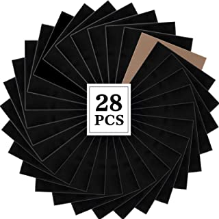 28pcs Black HTV Heat Transfer Vinyl 12in x 10in Weed Iron on HTV Vinyl for T-Shirts Works