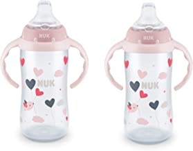 NUK 10 Ounce Jungle Large Learner Cup With Handles, 2 Pack, Girl