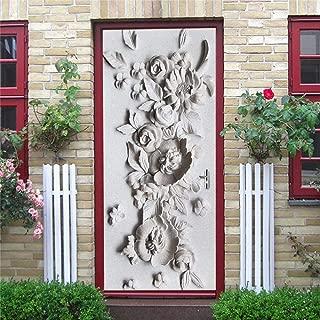 3D Static Cling Window Film Self Adhesive Glass Sticker,3D Geometric Door Stickers Home Decor Vinyl Waterproof Wallpaper for Doors Living Room Bedroom DIY Cat Posters Mural Wall Decals 15 x 78.7 Inch