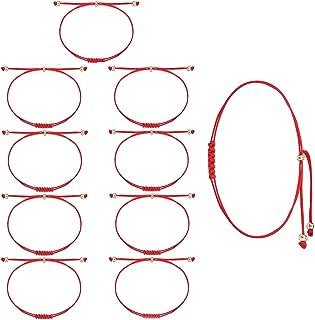 Shonyin 7 Knots Red String Bracelet Kabbalah Protection Thread Handmade String Bracelets Good Luck Gift for Women Men Girl...