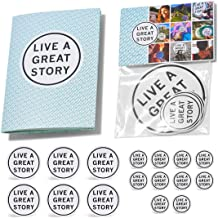 The LIVE A GREAT STORY Guide - Life Planner to be Brave & Manifest Happiness - Positive Thinking & Self Care - Overwhelm and Anxiety Relief - 5'' x 7'' Soft Cover - Dotted Grid Page - Free Stickers