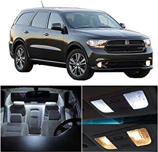 SCITOO 10Pcs White Interior LED Light Package Kit Replacement Bulbs Fits for Dodge Durango 2011-2017