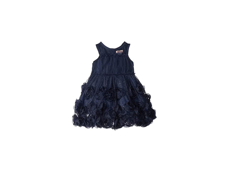 Nanette Lepore Kids Soft Tulle Glitter Dress (Infant) (Navy) Girl