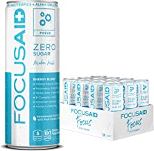 FOCUSAID ZERO SUGAR Energy Blend, Nootropics, Alpha-GPC, GABA, B-Complex, Yerba Mate, Green Tea, 100mg Natural Caffeine, K...