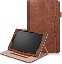 FUNUT HD 10 Case PU Leather Slim Case Smart Auto Wake/Sleep Cover Kickstand Protective Case for All-New Amazon Kindle Fire HD 10 Tablet(2015 Ver.& 7th Gen 2017 Release) - Brown