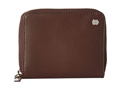 Victorinox Altius Edge Weyl Zippered Clutch Wallet w/ RFID Protection (Dark Earth Leather) Bi-fold Wallet