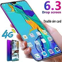 L-PH Mobile Phone - 18MP 8MP 4G LTE Dual SIM Smartphone Unlocked, 6.3 Inch HD 19:9 Full-Screen IPS Display,4800mAh,Android 9.1 Gradual Blue (Color : 3+64g)