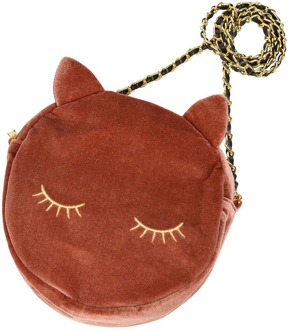 ユダヤ人ヒュームトピック(カービーズ) curvy's ポシェット ショルダーバッグ ショルダー バッグ bag 猫 ラウンド ベロア