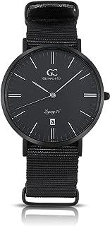 Gelfand & Co. Unisex Minimalist Watch Black NATO Strap Amsterdam 36mm Black with Black Dial