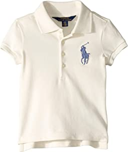 Big Pony Stretch Mesh Polo (Toddler)