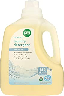 Whole Foods Market, Organic Laundry Detergent (133 HE Loads), Unscented, 200 Fl Oz