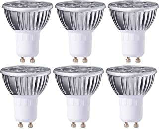 MODOAO 3W GU10 LED Bulbs, Dimmable Spot Light Bulb,Recessed Lighting,110 Volts 30 Degree Beam Angle, 30W Halogen Bulbs Equivalent,300LM,3000K Warm White 6 Pack