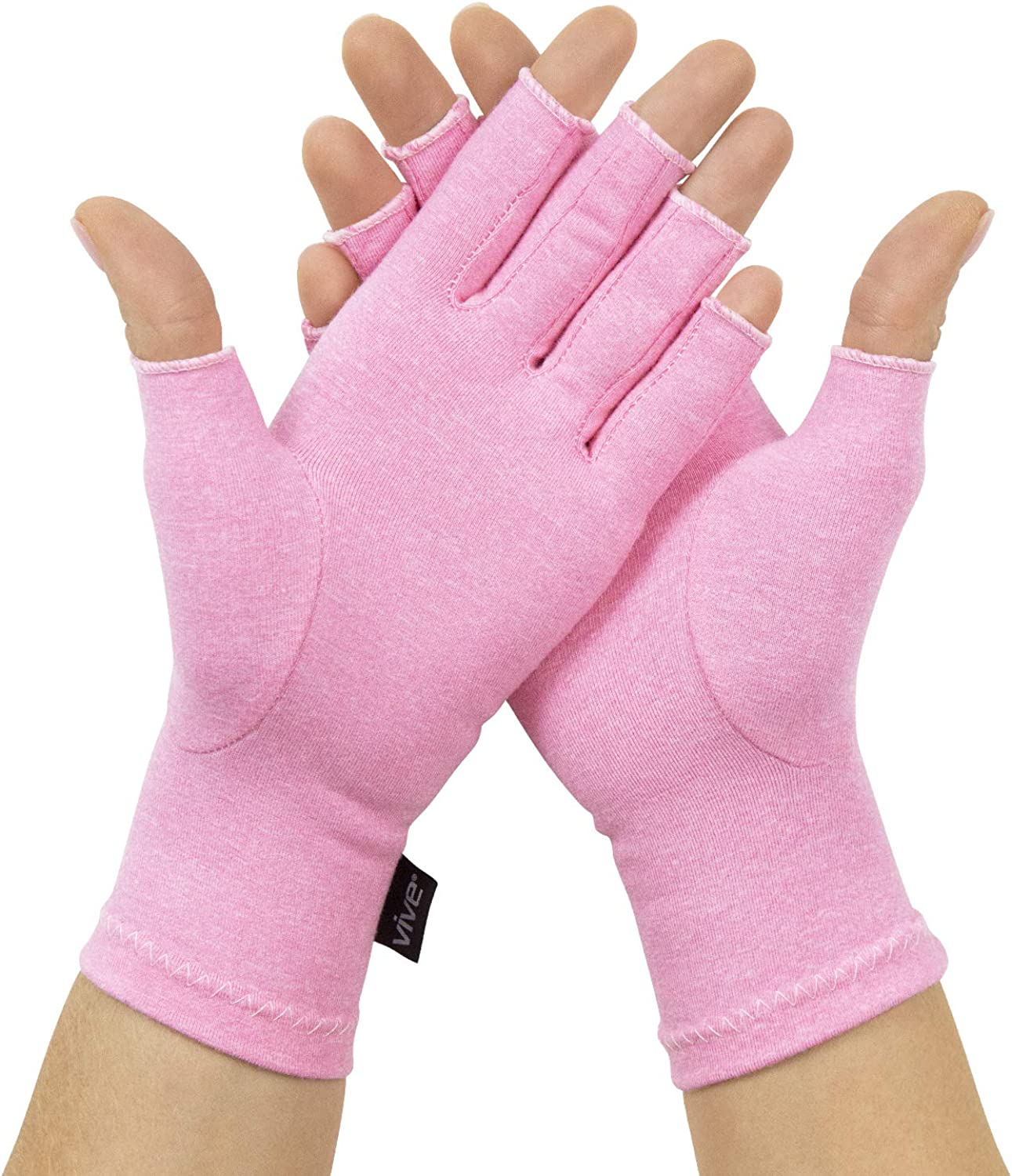 Vive Pink Arthritis Gloves Max 73% OFF Compression Fingerless Hand Ranking TOP11 -