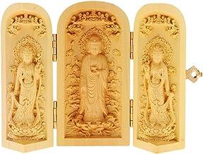 sharprepublic Supplies Bless Good Luck Lotus Flower Holy Kwan-yin 3 God Statue Box