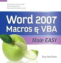 Word 2007 Macros & VBA Made Easy (Made Easy Series)