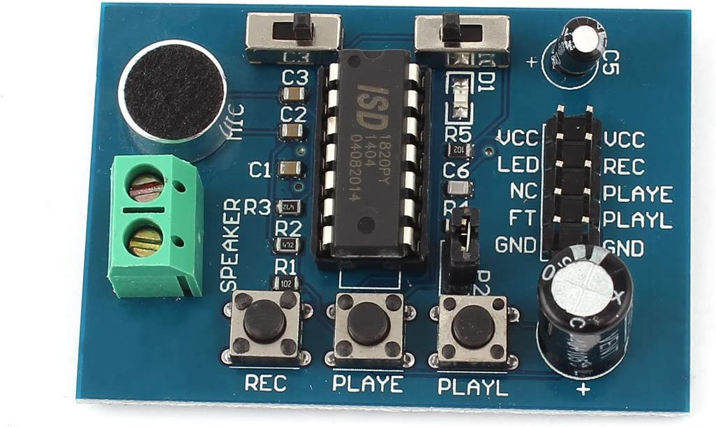 IIVVERR ISD1820 Voice Board Sound Onboa Playback Popular brand Module Seasonal Wrap Introduction Recorder