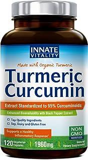 Sponsored Ad - OrganicTurmericCurcuminwithBioPerine, 95%StandardizedCurcuminoids,1960mgperServing,120VeggieCap...