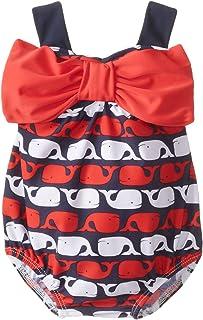 Mud Pie Baby Girls' Whale Swimsuit