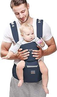 PEACOCO 【安全基準認証合格6WAY】 抱っこ紐 抱っこひも 多機能 ヒップシート おんぶ可 0-36ヶ月使える よだれパット付き 通気性