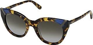 نظارات شمسية من سالفاتور فيراغامو للنساء غير مستقطبة على شكل عين القطة 19302030، لون اسود، 145 ملم