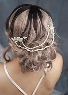 fxmimior Bridal Head Chain Wedding Prom Bohe Baroque Hair Comb Tiara Party Evening Wedding Hair Accessories