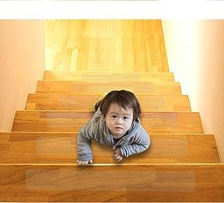 15-pak (10 cm x 61 cm), antypoślizgowe, przezroczyste samoprzylepne chodniki na schody bez PCW, bezpieczeństwo dla niemowl...