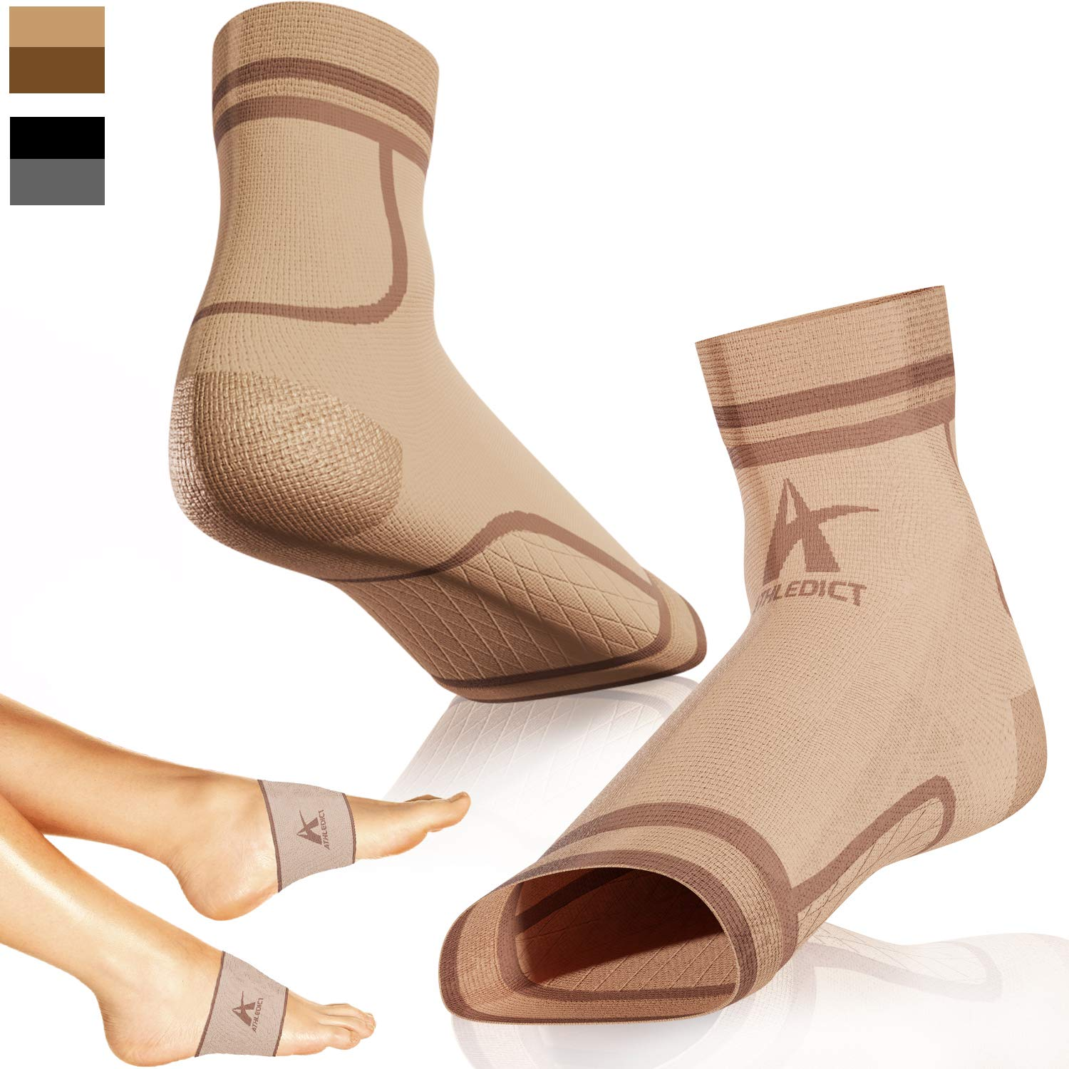 Plantar Fasciitis Direct store Socks + Arch 2 Compression for Portland Mall Sleeves Support