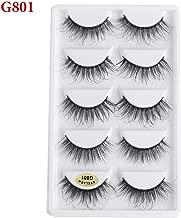 Mink Hair Natural False Eyelashes Long Messy Makeup Extension Make Up Beauty Tools,G801
