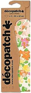 Decopatch 30 x 40 cm Watercolour Floral Paper, Pack of 3 Sheets