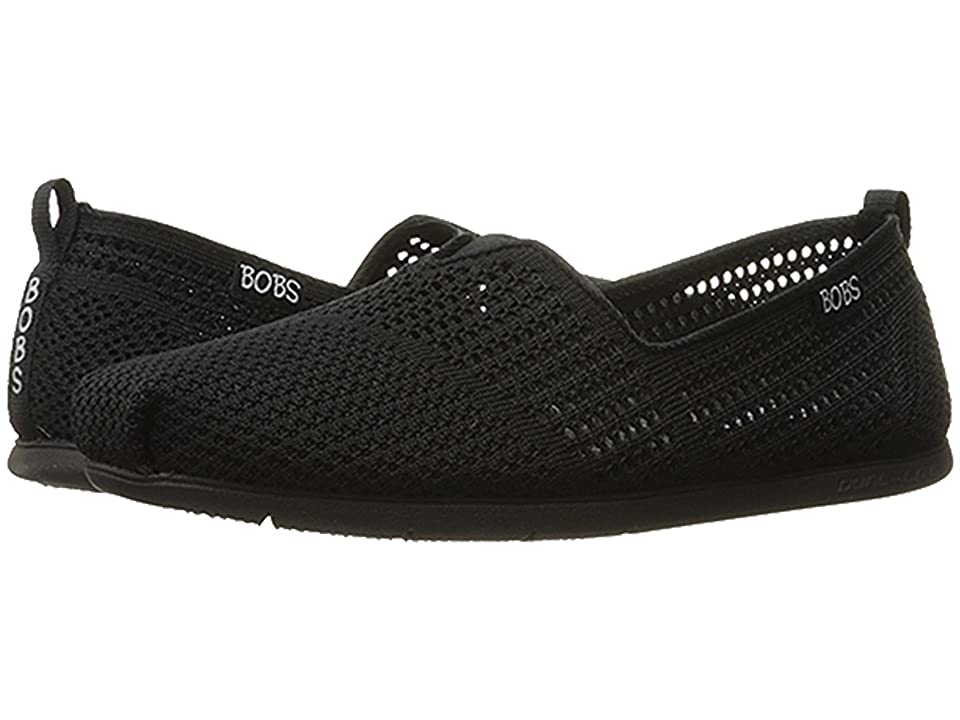 BOBS from SKECHERS Plush Lite Peek (Black/Black) Women