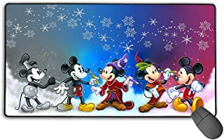 Large Mouse Pad Mickey Mouse Cartoons Gaming Mousepad for Computer PC and Keyboard Laptop-29.5x15.7x0.1IN