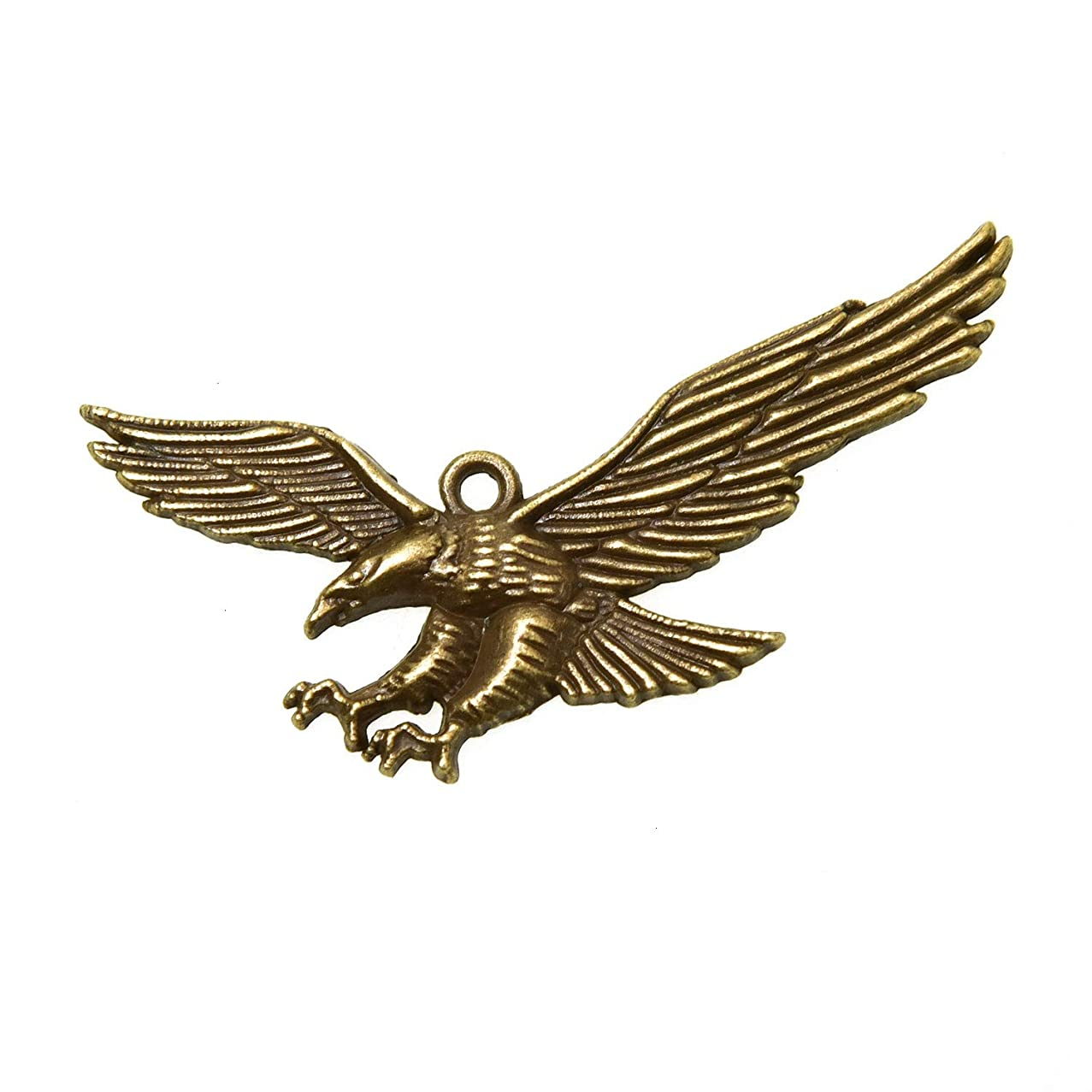 Monrocco 30Pieces Antique Bronze Hawk Eagle Bird Flying Charms - Zinc Alloy Metal Beads Eagle Charms Jewelry Finding