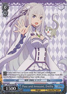 Weiss Schwarz - Pure and Innocent, Emilia - RZ/S55-E056 RR - Re:Zero -Starting Life in Another World- Vol.2