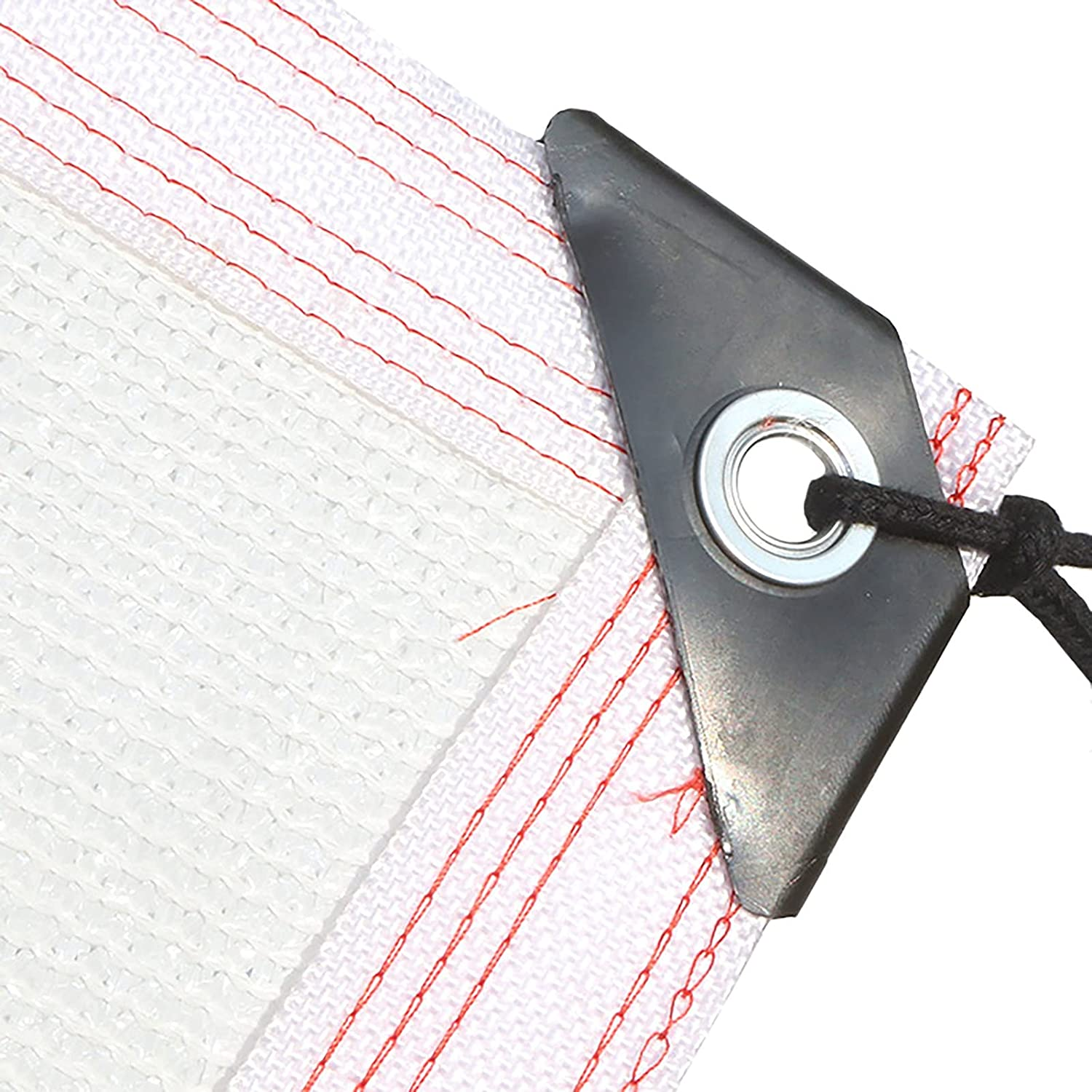 Shade Cloth Brand Cheap Max 40% OFF Sale Venue White Rectangle Edge Buttonho with Taped