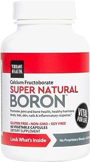 Vibrant Health, Super Natural Boron, Essential Mineral Supplement Vegetarian, 60 Capsules (30 Servings) (FFP)