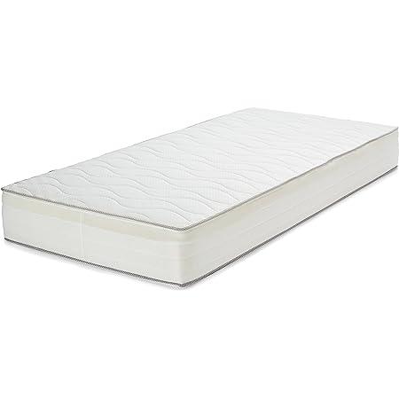 Amazon Basics Matelas à Ressorts Extra Confortable avec Sept Zones Douces, 90 x 190 cm - Moyen (H3)