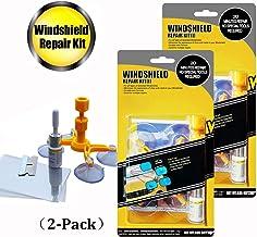 GLISTON Car Windshield Repair Kit for Chips and Cracks, Bulls-Eye, Star-Shaped, Nicks,..