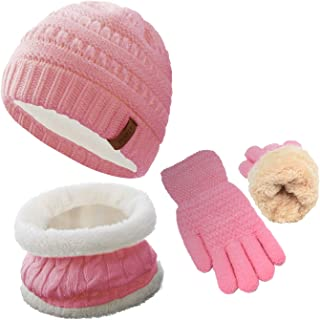 Character Cute Children Winter Beanie Knit Gloves for Cold Weather LINE FRIENDS Kids Hat and Mittens Set