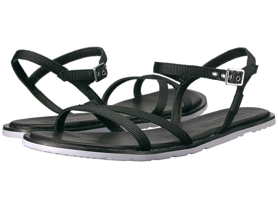 Hunter Original Web Cross Front Sandal (Black/White) Women