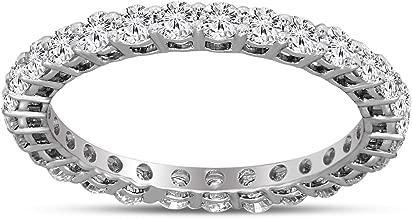 Friendly Diamonds 100% Real Diamond Ring 1 carat Luxury Eternity Band Diamond Ring 10K White Gold Lab Grown Diamond Engagement Rings For Women SI-GH Quality Lab Created Diamond Rings for Women
