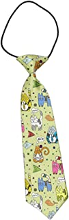 MrDecor Boys Pre-Tied Elastic Neck Strap Tie Little Boys Necktie Cartoon Colorful Kitten