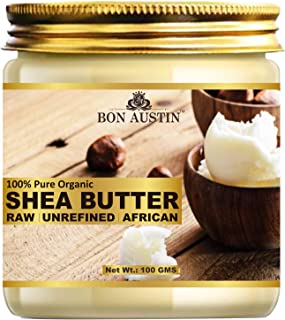 Bon Austin 100% Natural Shea Butter- RAW, UNREFINED & AFRICAN- For Moisturization of Body and Skin (100 gms)
