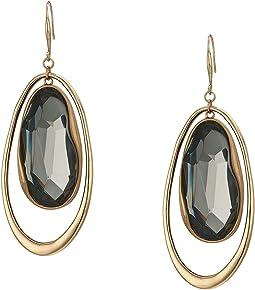 Stone Orbital Drop Earrings