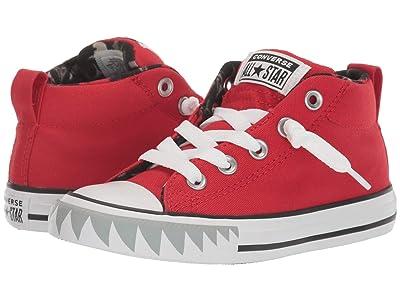 Converse Kids Chuck Taylor(r) All Star(r) Street Shark (Little Kid/Big Kid) (University Red/Black/White) Boy