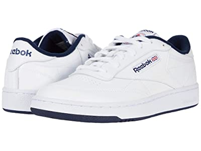 Reebok Lifestyle Club C 85 (White/White/Collegiate Navy) Men