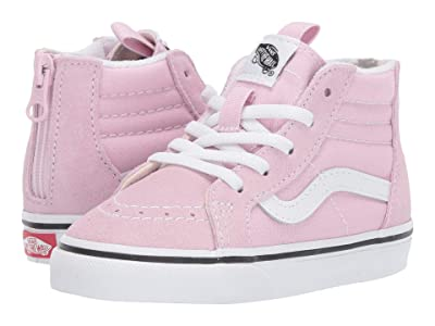 Vans Kids Sk8-Hi Zip (Infant/Toddler) (Lilac Snow/True White) Girls Shoes