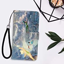 DISNEY COLLECTION Wallet Case with Strap Apple iPhone 11 Pro Max (2019) [6.5in] Peter Pan Phone Wallet Case Flip