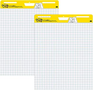 Post-it Super Sticky Easel Pad, 25 x 30 Inches, 30 Sheets/Pad, 2 Pads (560), Large White Grid Premium Self Stick Flip Char...