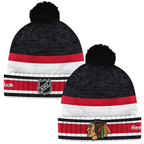 152dd786ed2aa6 Amazon.com : Reebok NHL Center Ice Men's Cuffed Knit Beanie Hat with Pom  (One Size, York Islanders) : Clothing