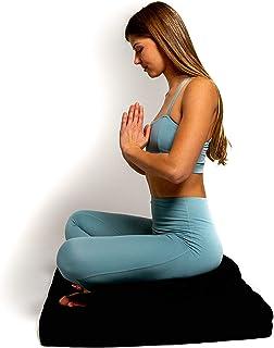 Awaken Meditation - Crescent Zafu Cushion and Zabuton Mat Set | Washable Yoga Bolster - 100% Natural Cotton Filled with Bu...